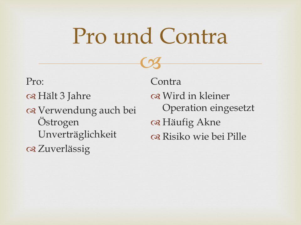 Pro und Contra Pro: Contra Hält 3 Jahre