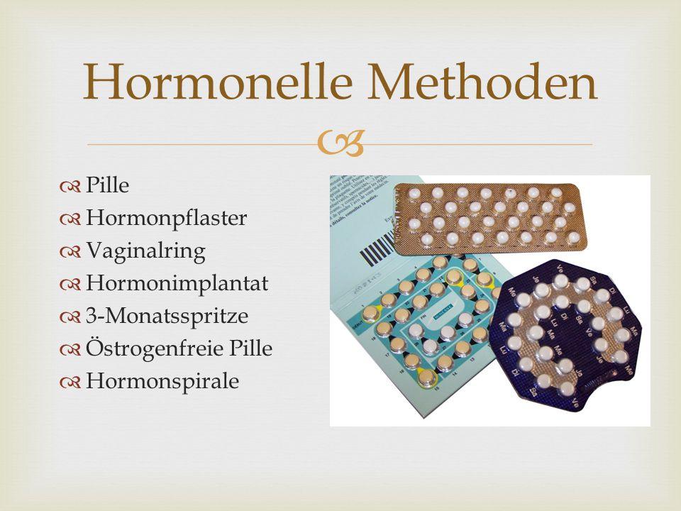 Hormonelle Methoden Pille Hormonpflaster Vaginalring Hormonimplantat