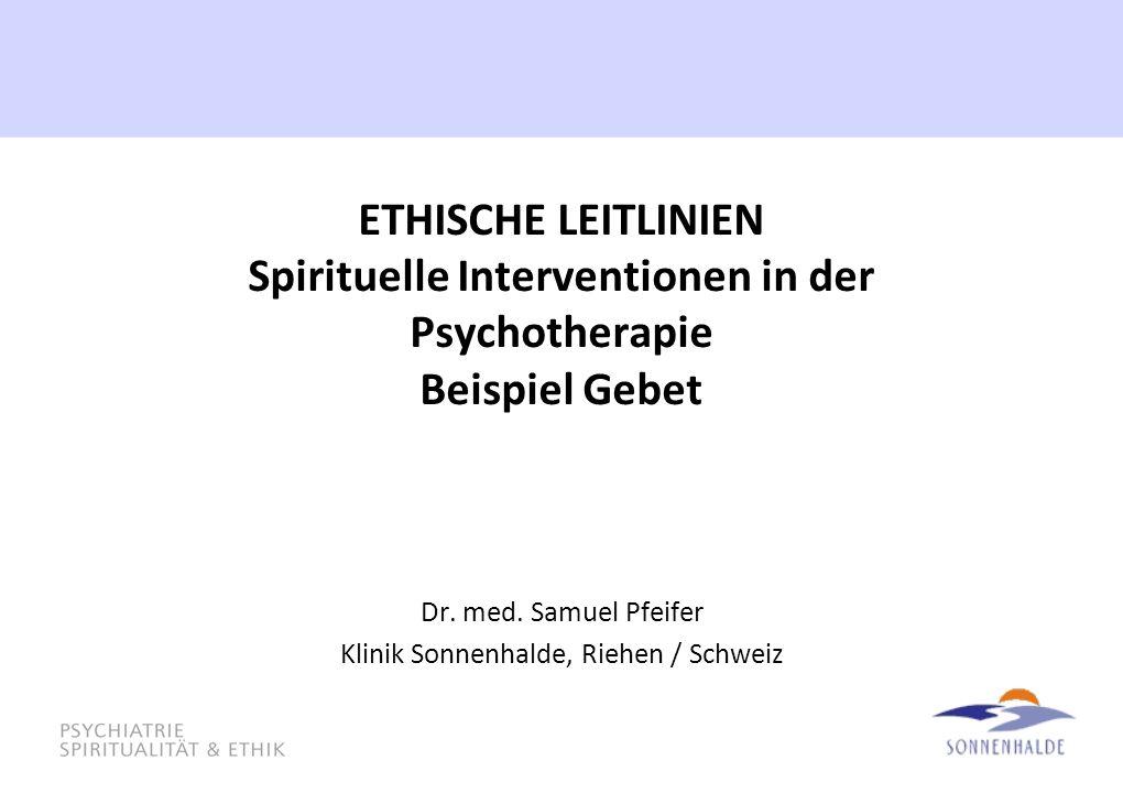 Dr. med. Samuel Pfeifer Klinik Sonnenhalde, Riehen / Schweiz