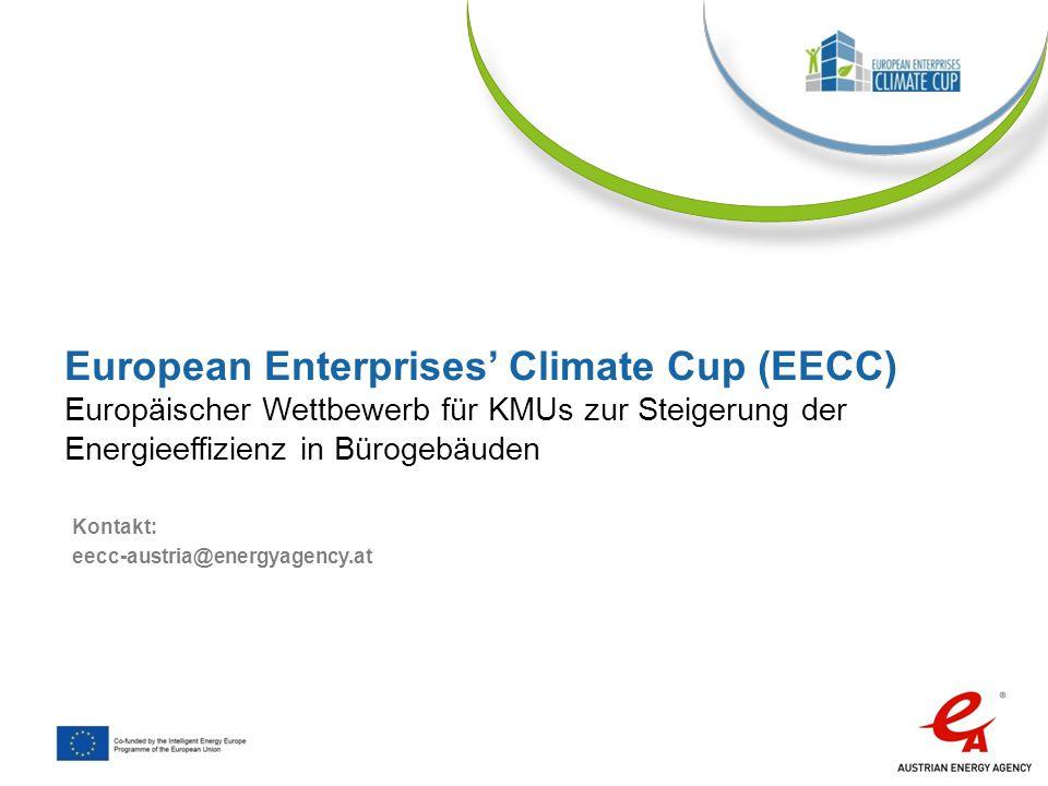 European Enterprises' Climate Cup (EECC) Europäischer Wettbewerb für KMUs zur Steigerung der Energieeffizienz in Bürogebäuden
