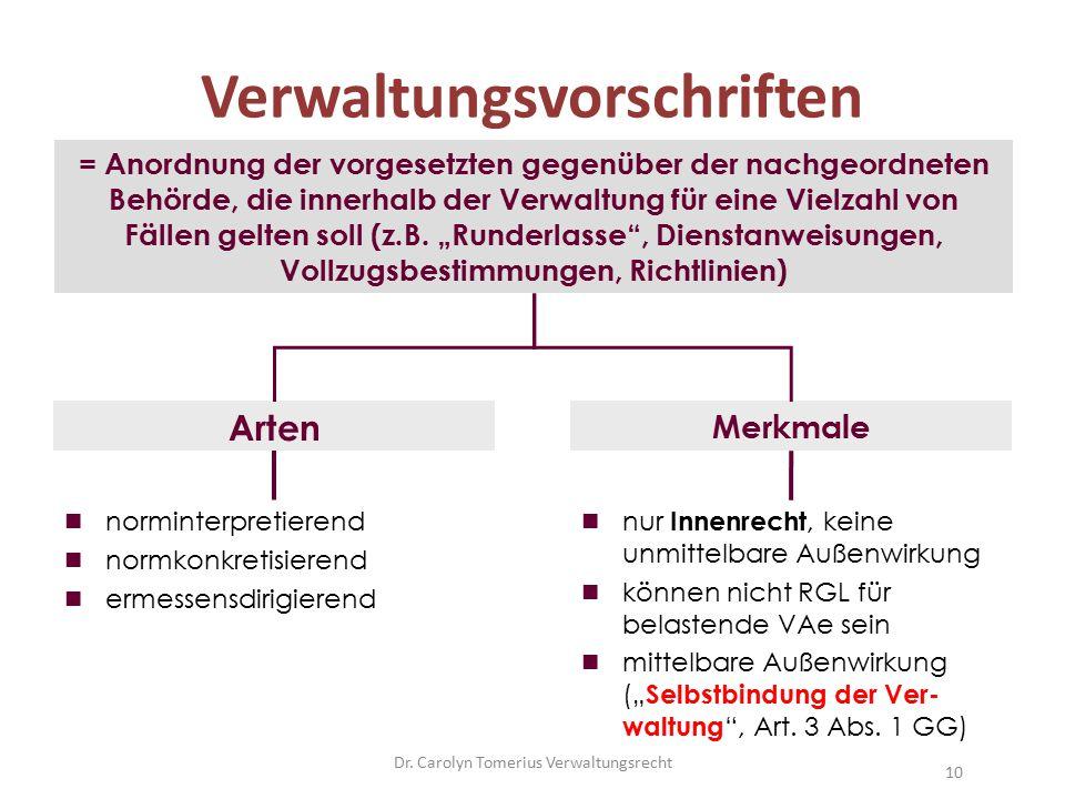 Verwaltungsvorschriften