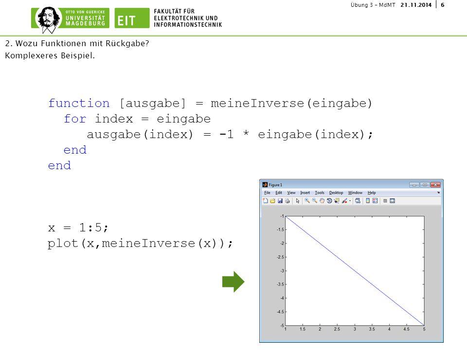 2. Wozu Funktionen mit Rückgabe Komplexeres Beispiel.