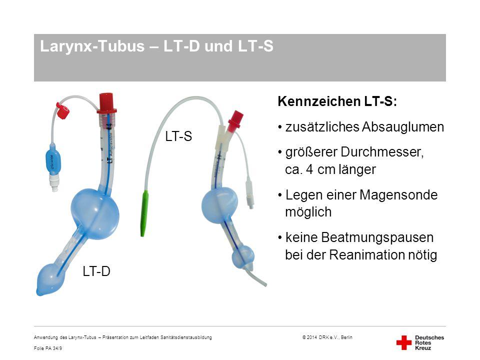 Larynx-Tubus – LT-D und LT-S
