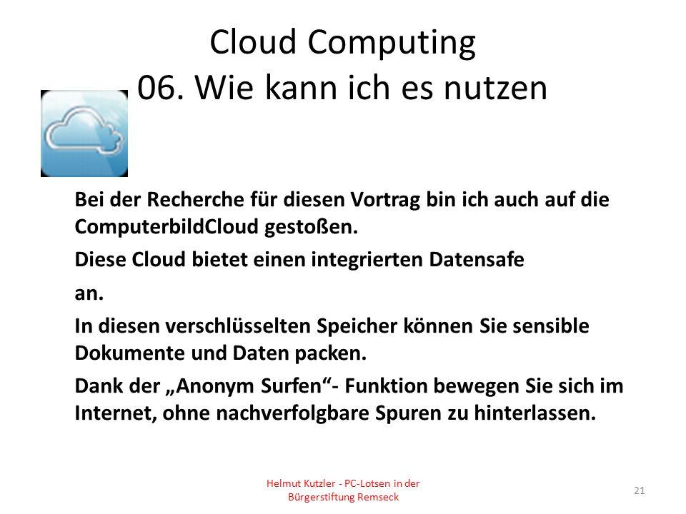 Cloud Computing 06. Wie kann ich es nutzen