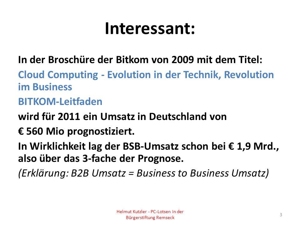 Helmut Kutzler - PC-Lotsen in der Bürgerstiftung Remseck