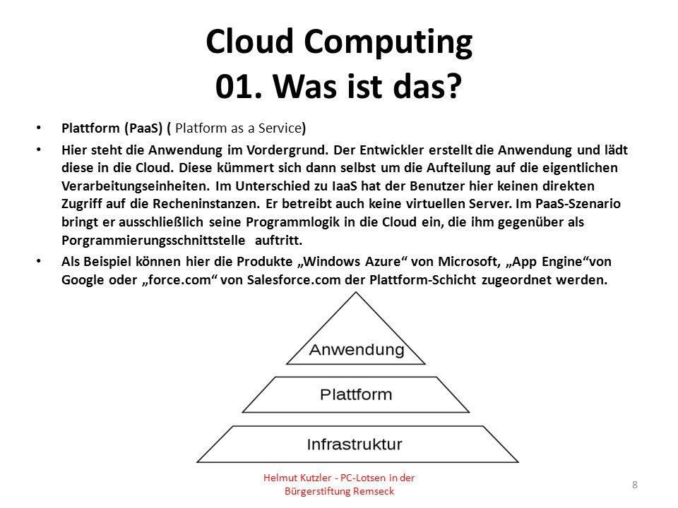 Cloud Computing 01. Was ist das