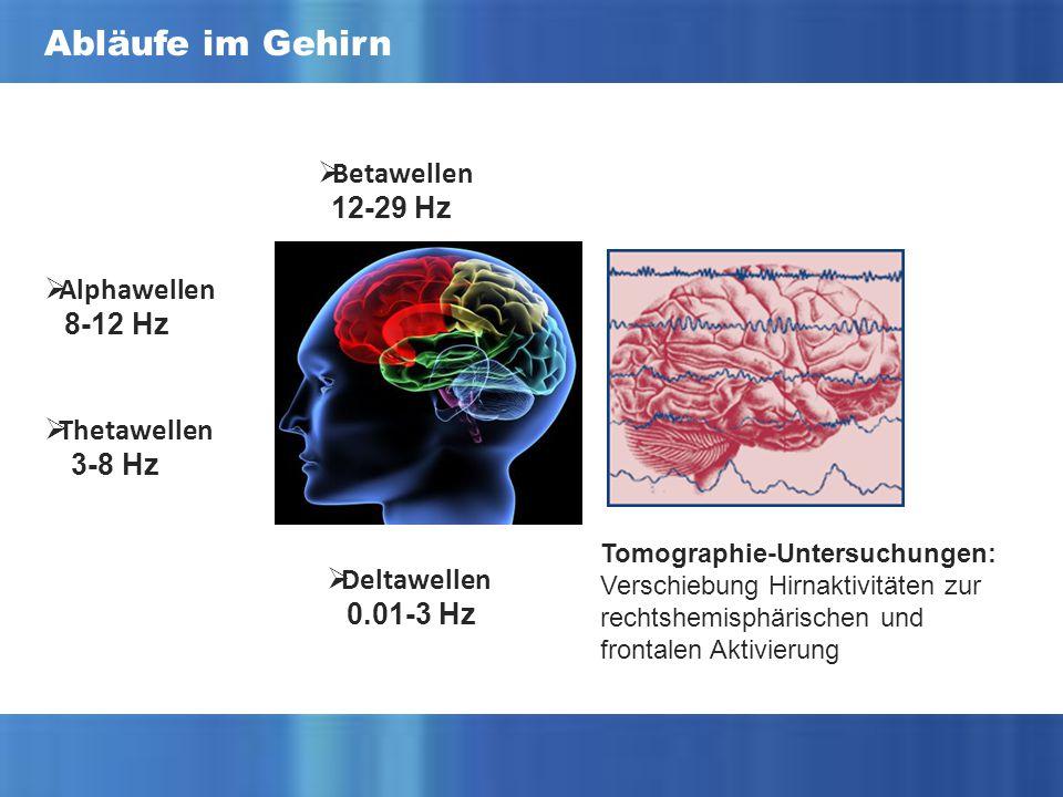 Abläufe im Gehirn Betawellen 12-29 Hz Alphawellen 8-12 Hz