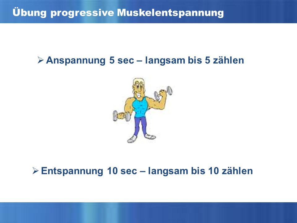 Übung progressive Muskelentspannung