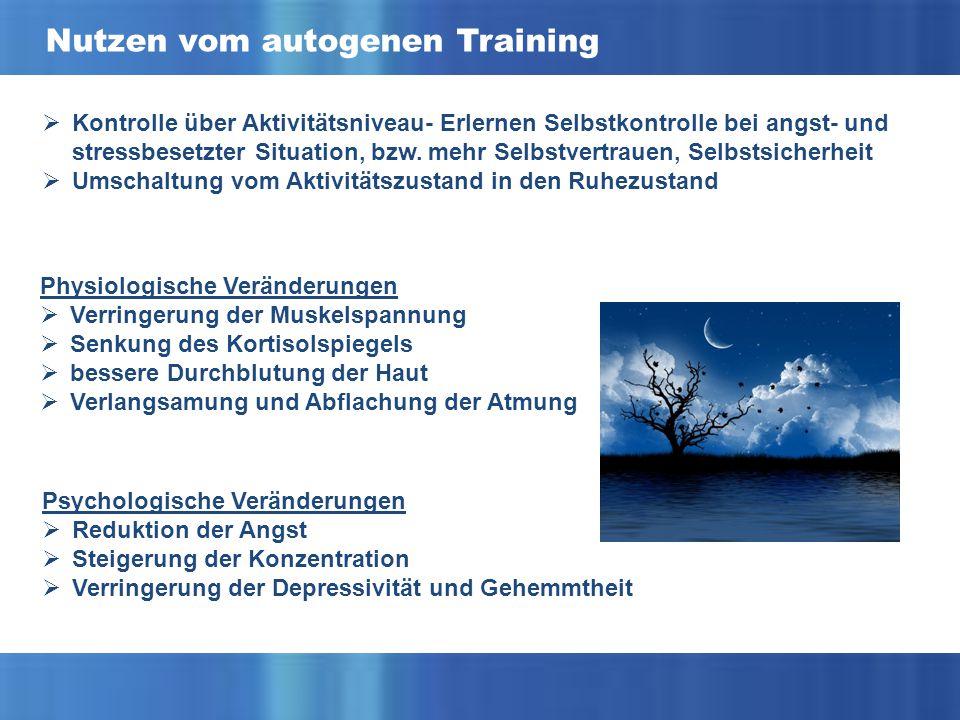 Nutzen vom autogenen Training