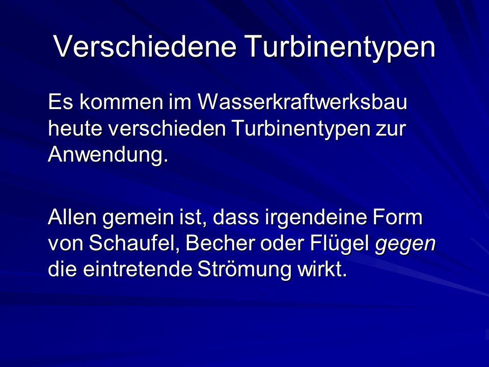 Verschiedene Turbinentypen