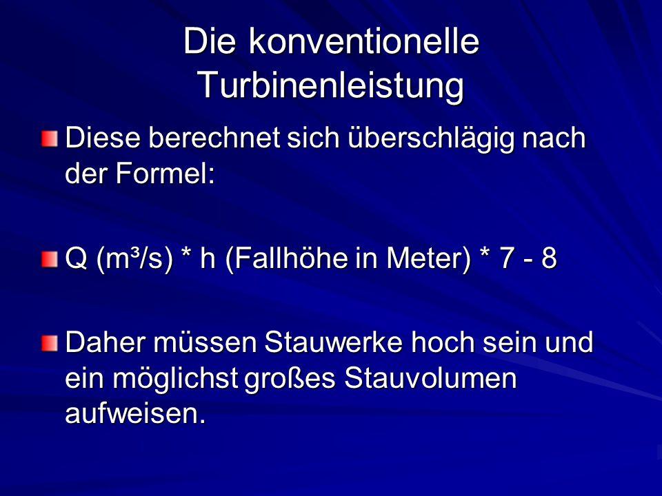Die konventionelle Turbinenleistung