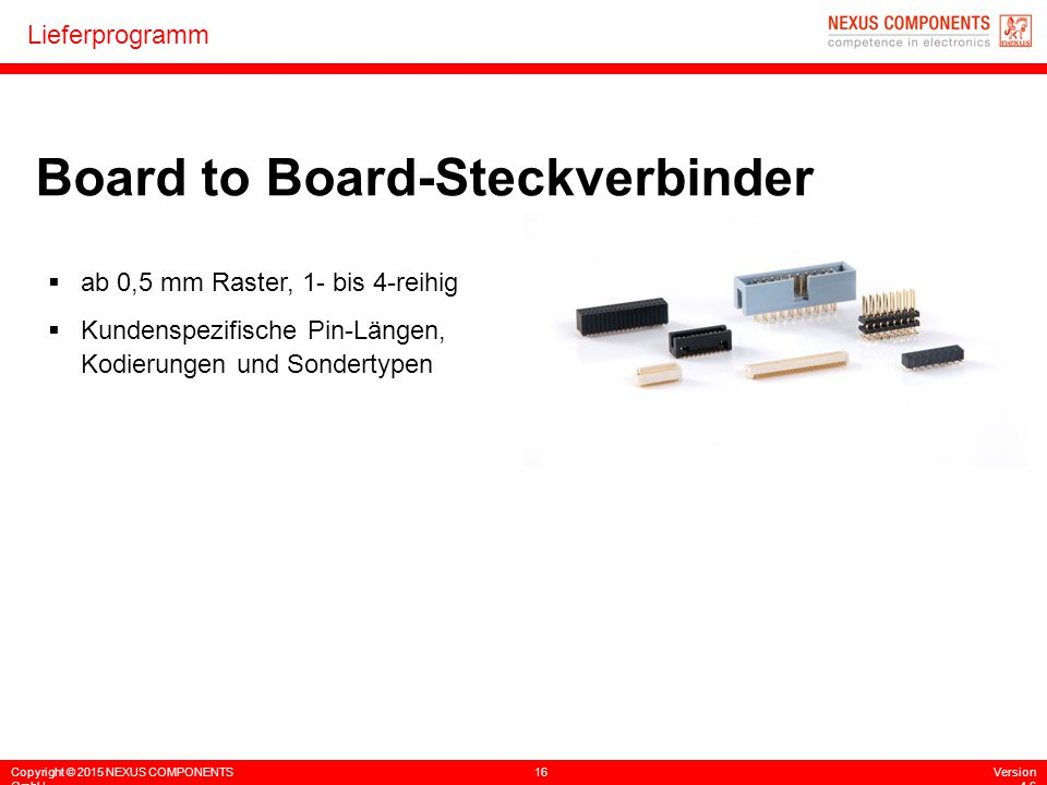 Board to Board-Steckverbinder
