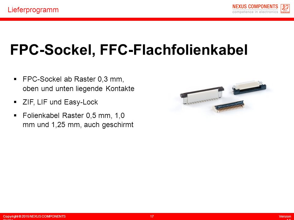 FPC-Sockel, FFC-Flachfolienkabel