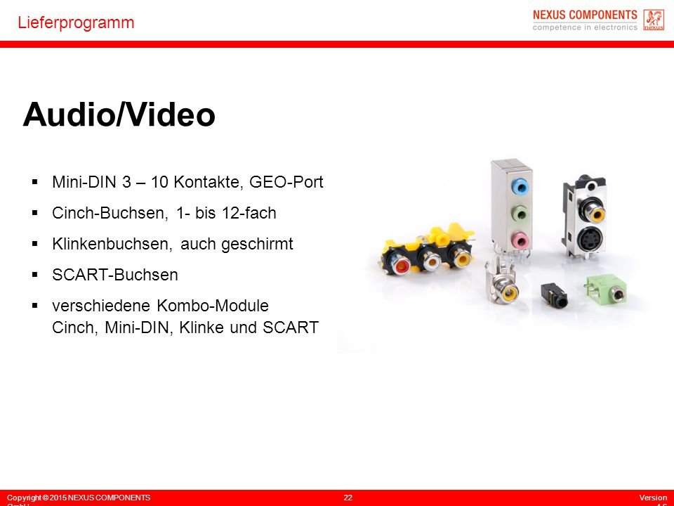 Audio/Video Mini-DIN 3 – 10 Kontakte, GEO-Port