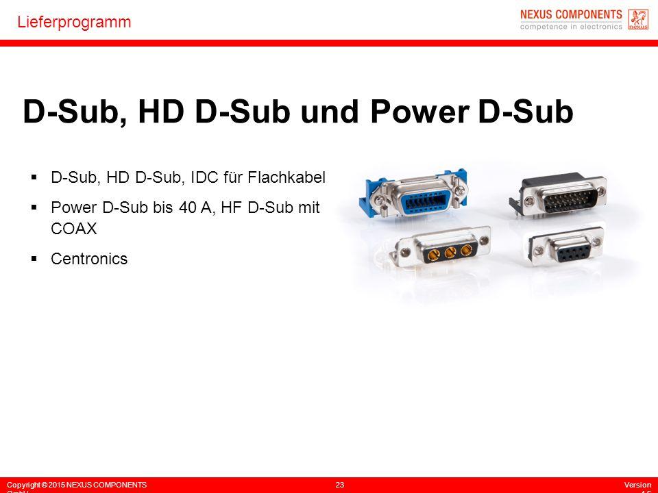 D-Sub, HD D-Sub und Power D-Sub