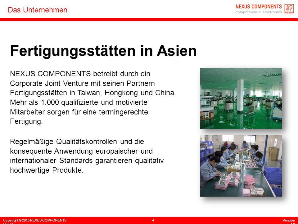 Fertigungsstätten in Asien