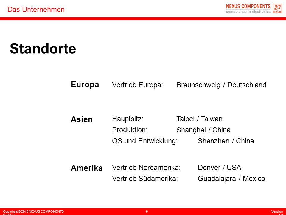 Standorte Europa Asien Amerika