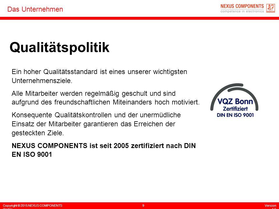 Qualitätspolitik Ein hoher Qualitätsstandard ist eines unserer wichtigsten Unternehmensziele.