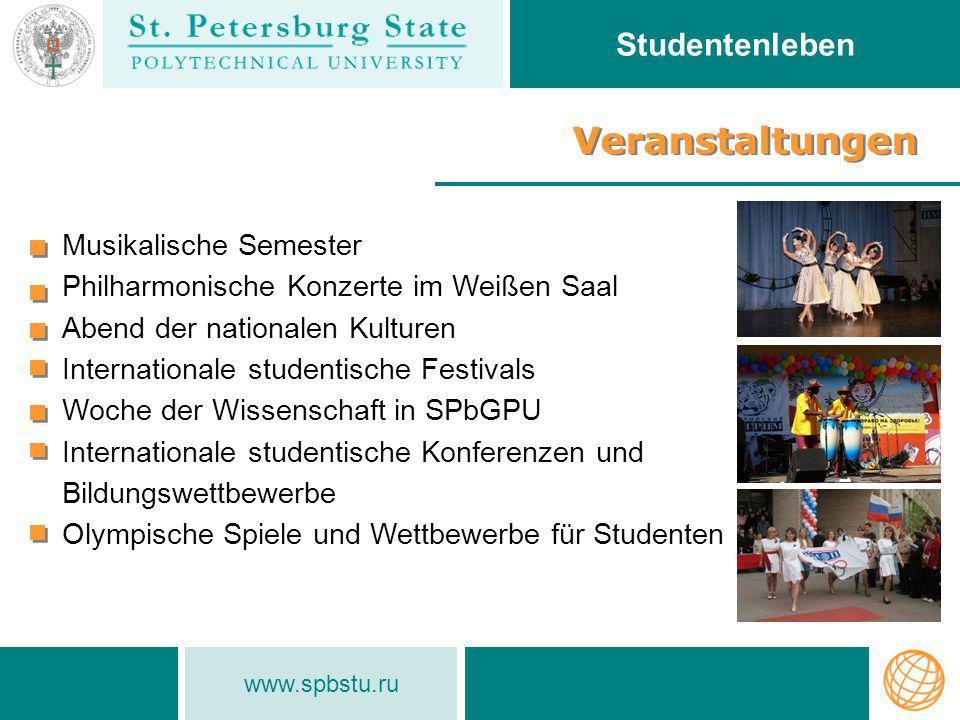 Veranstaltungen Studentenleben Musikalische Semester
