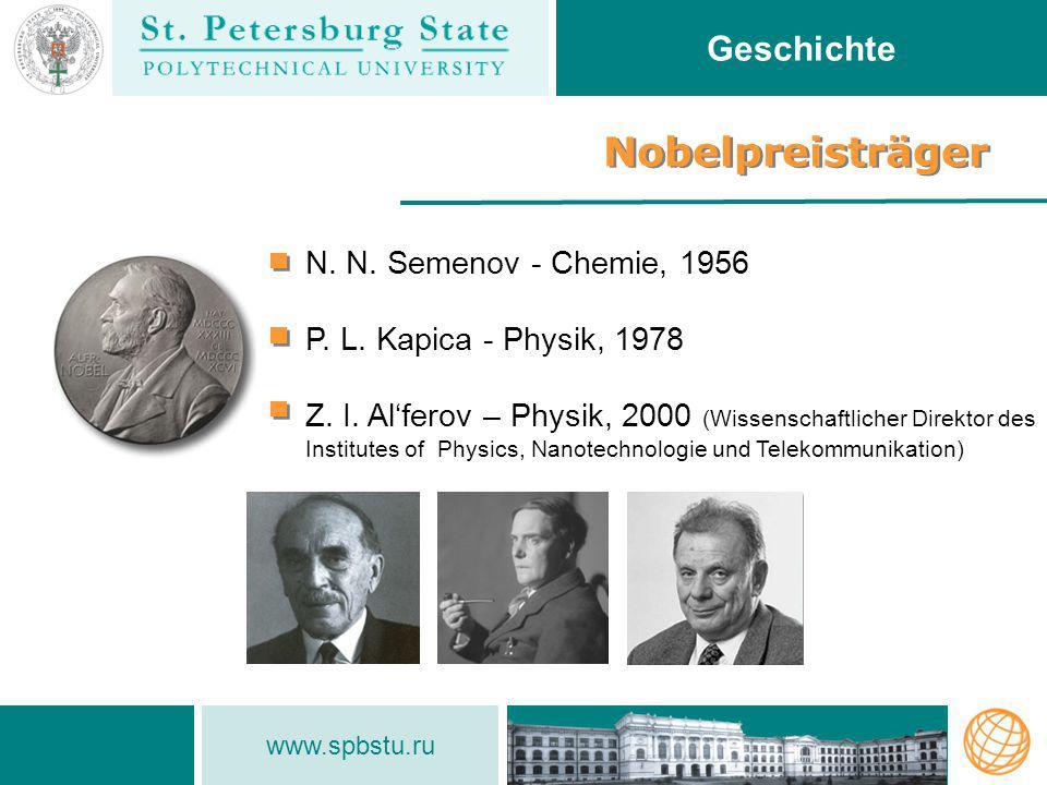 Nobelpreisträger Geschichte N. N. Semenov - Chemie, 1956