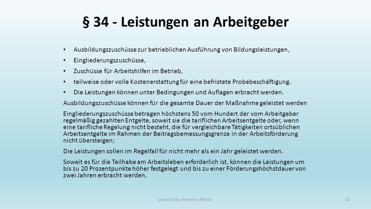 § 34 - Leistungen an Arbeitgeber