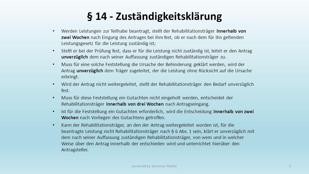 § 14 - Zuständigkeitsklärung