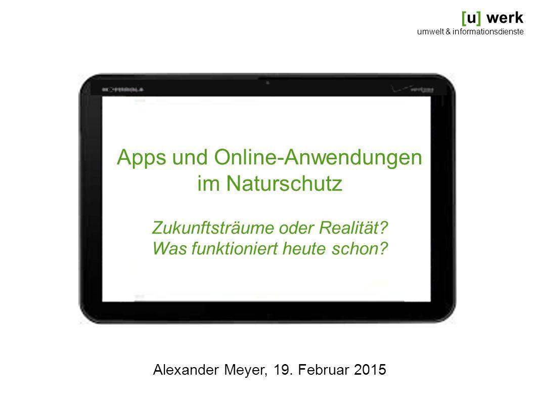 Apps und Online-Anwendungen im Naturschutz