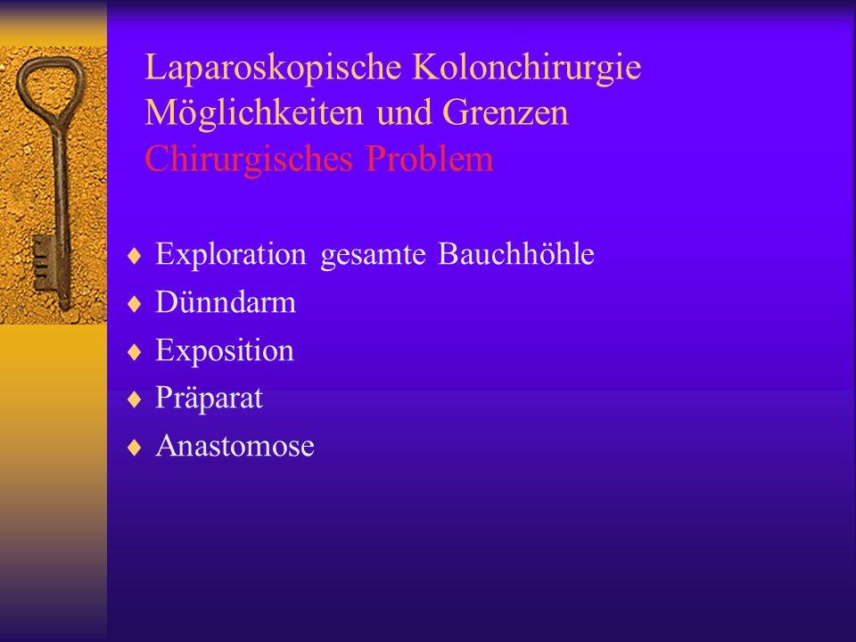 Laparoskopische Kolonchirurgie Möglichkeiten und Grenzen Chirurgisches Problem