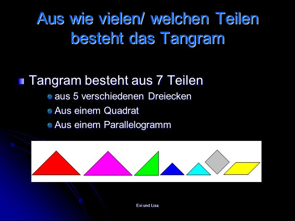 Aus wie vielen/ welchen Teilen besteht das Tangram
