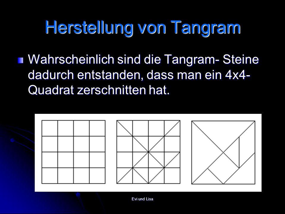 Herstellung von Tangram