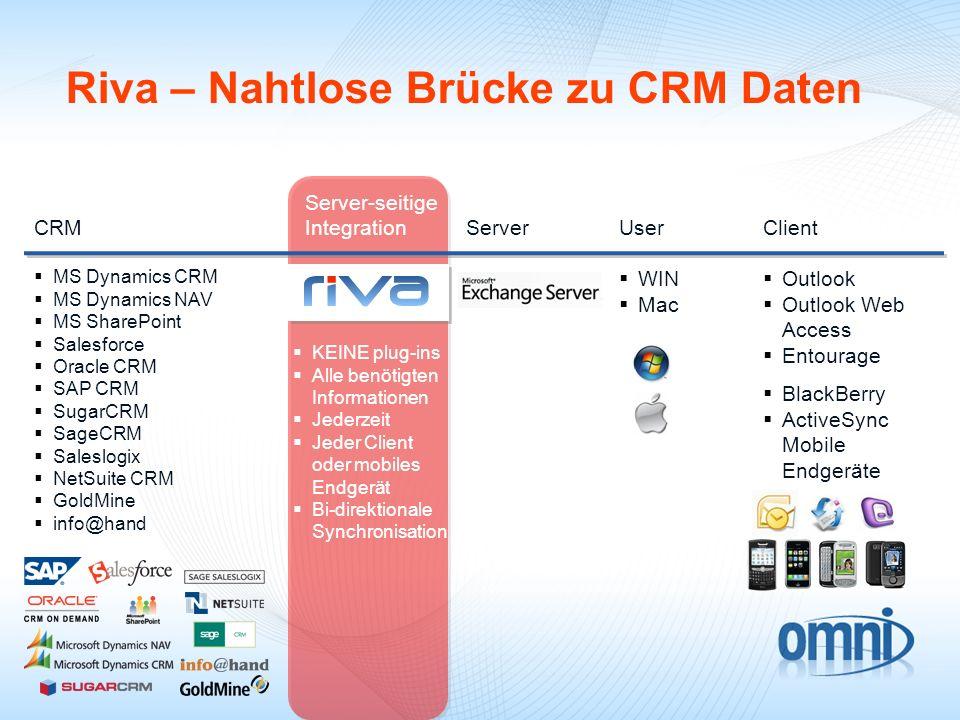 Riva – Nahtlose Brücke zu CRM Daten