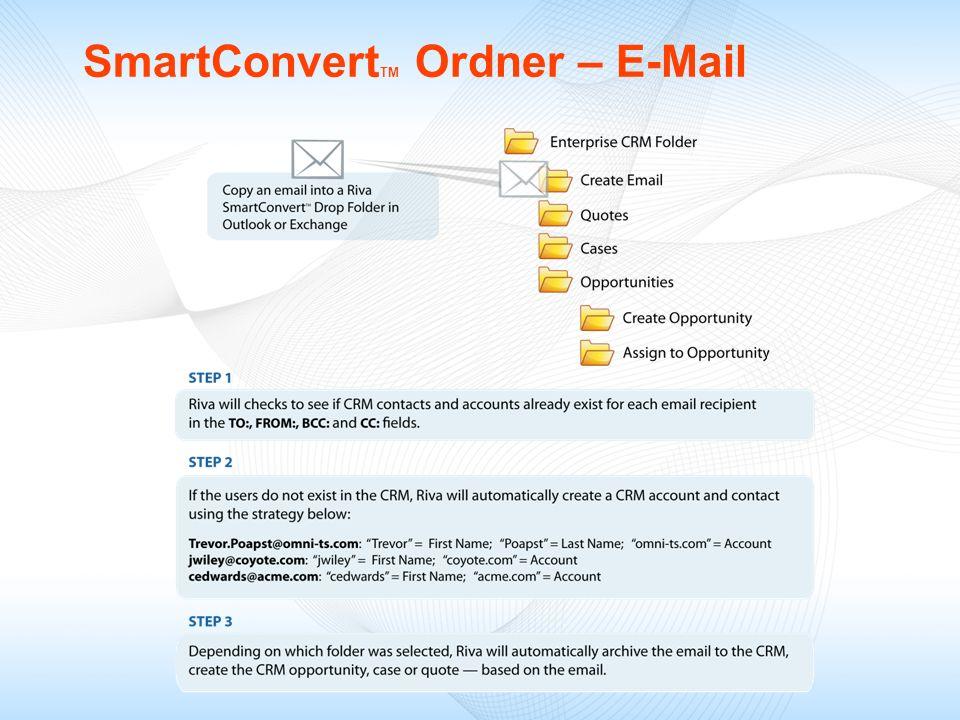 SmartConvertTM Ordner – E-Mail
