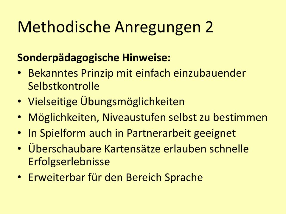 Methodische Anregungen 2