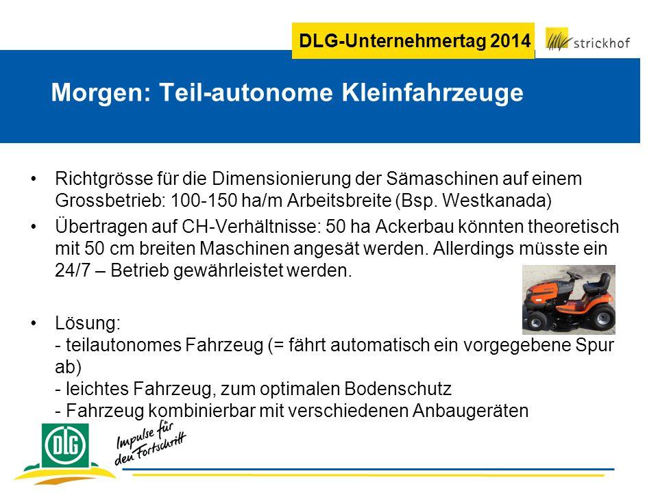 Morgen: Teil-autonome Kleinfahrzeuge