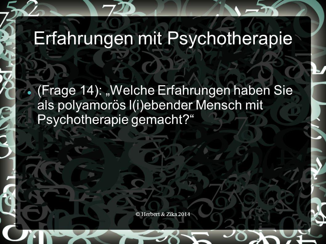Erfahrungen mit Psychotherapie