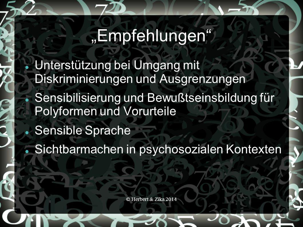 """""""Empfehlungen Unterstützung bei Umgang mit Diskriminierungen und Ausgrenzungen."""
