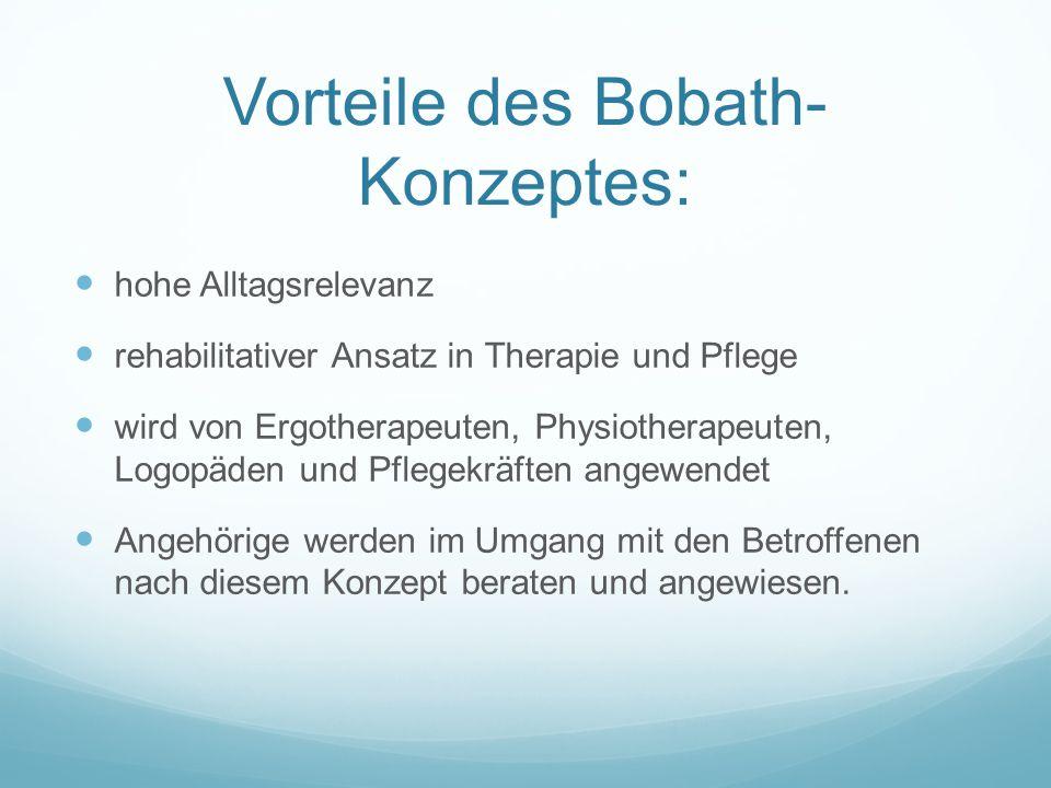 Vorteile des Bobath-Konzeptes: