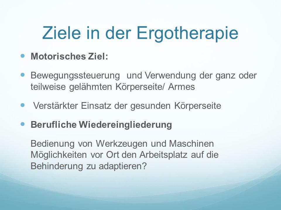 Ziele in der Ergotherapie