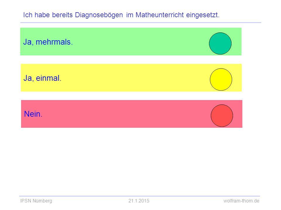 Ich habe bereits Diagnosebögen im Matheunterricht eingesetzt.