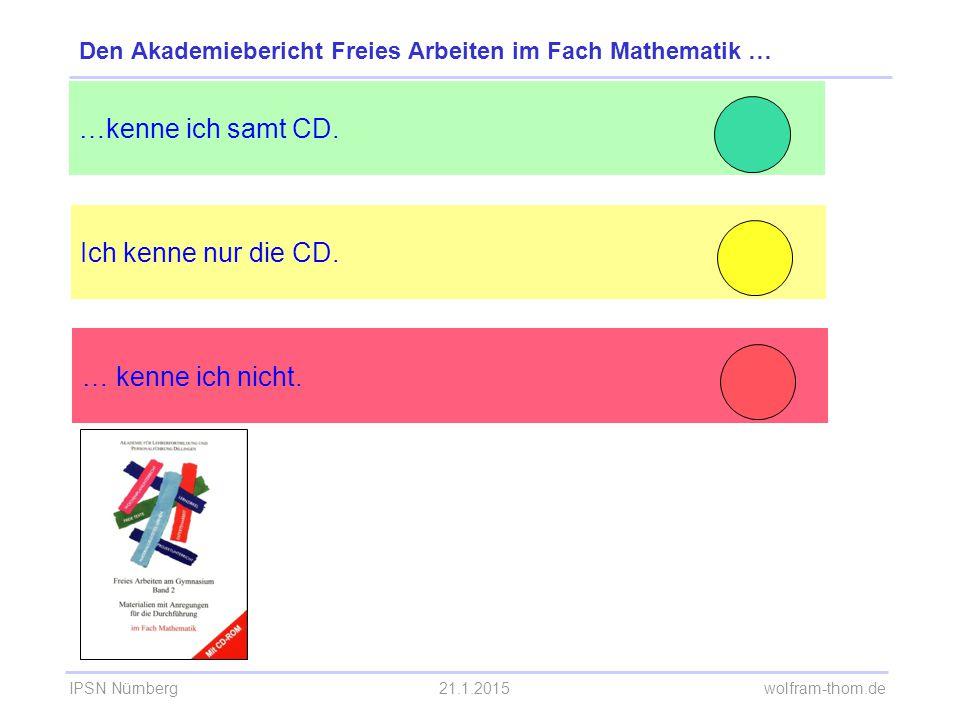 Den Akademiebericht Freies Arbeiten im Fach Mathematik …