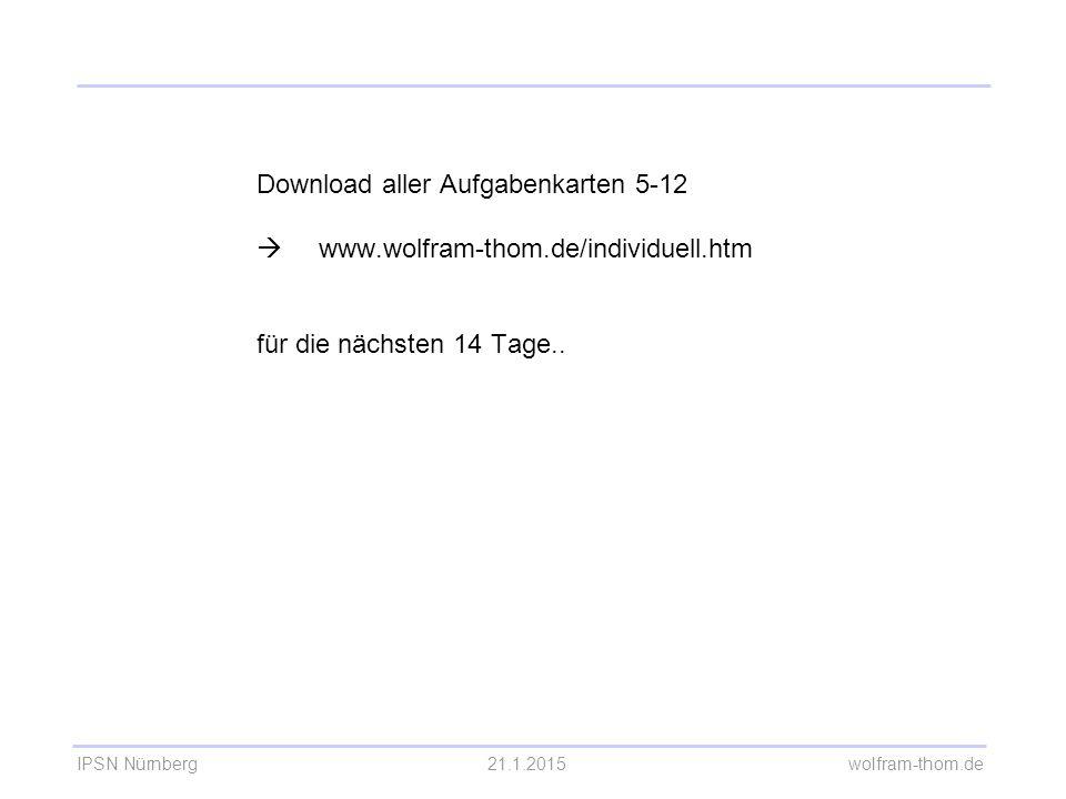 Download aller Aufgabenkarten 5-12. . www. wolfram-thom