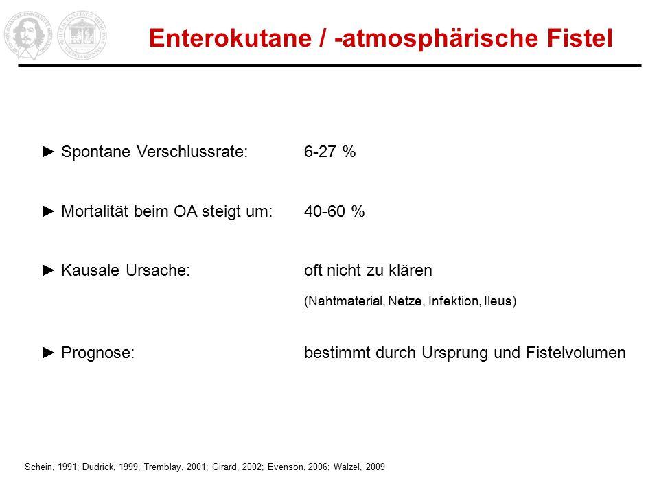 Enterokutane / -atmosphärische Fistel