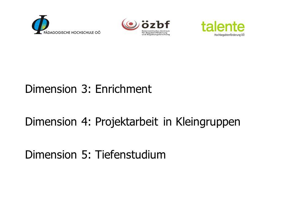 Dimension 3: Enrichment