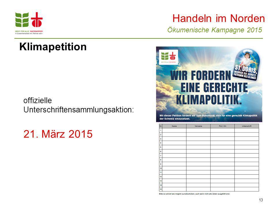 Handeln im Norden Klimapetition 21. März 2015