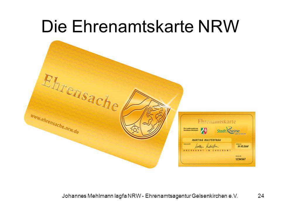 Die Ehrenamtskarte NRW