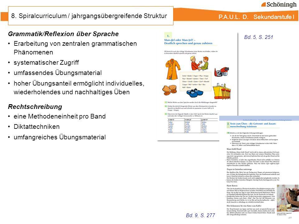 8. Spiralcurriculum / jahrgangsübergreifende Struktur