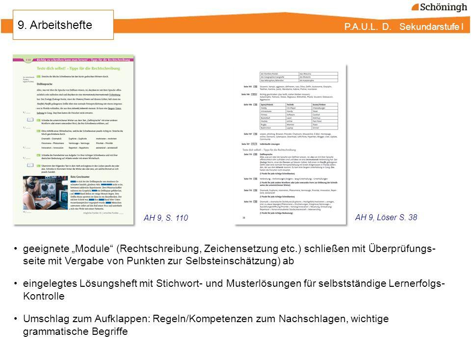 9. Arbeitshefte AH 9, S. 110. AH 9, Löser S. 38.