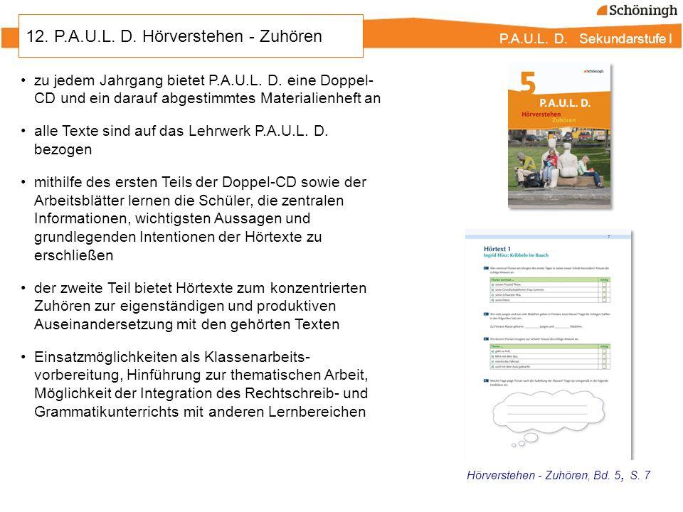 12. P.A.U.L. D. Hörverstehen - Zuhören