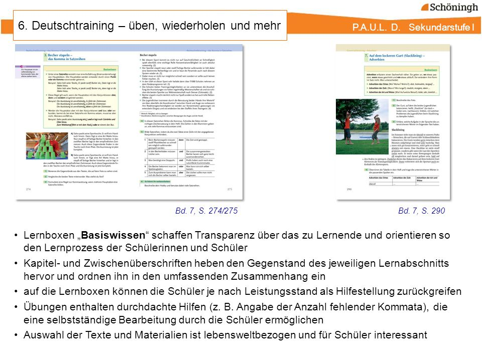 6. Deutschtraining – üben, wiederholen und mehr