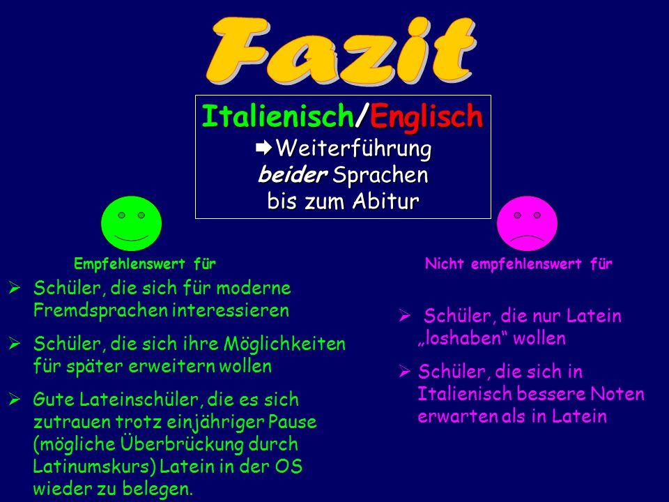 Italienisch/Englisch